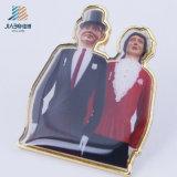 Pin отворотом металла промотирования золота отливки сплава высокого качества для венчания