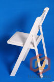 Silla plegable blanca y negra del hotel de la resina plástica del color