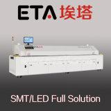 Horno del flujo para la tira del LED, fábrica auto del horno del flujo de la máquina que suelda para la luz del LED