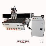 CNC de Omni 4*8 que talla el ranurador con el eje de rotación doble
