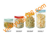 vasi di vetro quadrati di memoria dell'alimento 450ml con la protezione