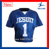 Lacrosse de encargo Jersey de la impresión del traspaso térmico de Healong