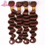 自然な100%加工されていなくよい織り方のカンボジアのバージンの毛