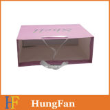 Logo d'estampage à chaud Sac à provisions / sac à provisions en papier Kraft blanc