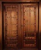 古典的な様式の材木の木のドア