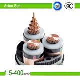 Cabo distribuidor de corrente 300/500V Sheathed isolado PVC da alta qualidade 2cores/3core