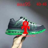 Taille 40-45 de 95 pleine d'air de coussin de ressort d'été de ventilation de lumière espadrilles de chaussures de course