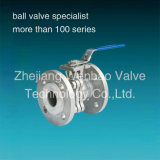 Actuatorの投資Casting 2PC Flange Ball Valve