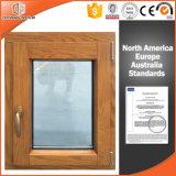 캐나다 토론토 클라이언트 알루미늄 입히는 오크재 여닫이 창 Windows