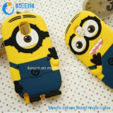 Samsung /iPhone/LG 3D Silicone Minions Mobile Phone Caseのため