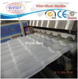Feuille ondulée de toit d'animal familier de feuille transparente de toiture faisant la machine