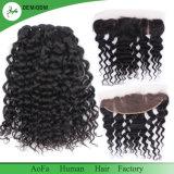Loose Curl Cheveux humains brésiliens 4X13 Frontal Lace Closure