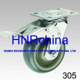 Industrieller Hochleistungsschwenker mit doppelter Bremsen-Platten-Oberseite-Fußrolle