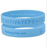 Kundenspezifische Farbe gefüllter Silikon-SilikonWristband
