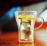 чашка стекла стены двойника боросиликатного стекла 300ml