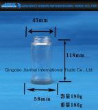 Vaso cilindrico di vetro di memoria dell'alimento inscatolato