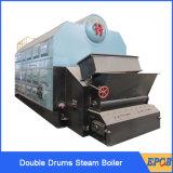 Caldeiras de vapor Chain industriais da grelha dos cilindros do dobro