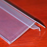 De duidelijke Houder van het Etiket van de Prijs van pvc Plastic voor Planken