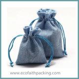 Естественный гессиан мешок подарка джута для рождества