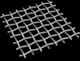 ひだを付けられた金網の正方形の金網
