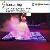 Sunfrom New 3D Mirror Infinite LED Dance Floor pour mariage
