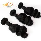 卸し売りバージンの毛のインドの緩い波の人間の毛髪のよこ糸