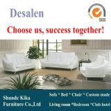 Sofá de couro moderno branco, mobília moderna, qualidade de preço de fábrica boa (A009)
