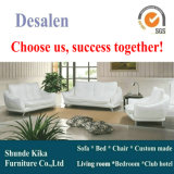 Weißes modernes ledernes Sofa, moderne Möbel, Fabrik-Preis-gute Qualität (A009)