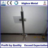 Bride en verre carrée pour la balustrade et la balustrade d'acier inoxydable