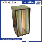 V-bank de Filter van de Lucht van de Zuiveringsinstallatie van de Lucht met MiddenEfficiency