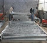 De gegalvaniseerde Omheining van het Frame van het Metaal Materiële Draagbare Tijdelijke met Steun (Fabriek)