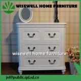 Coffre à 4 tiroirs blanc antique (WB-A1020)