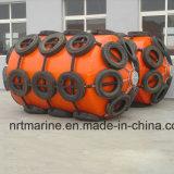 Pára-choque de borracha pneumático marinho com corrente galvanizada e pneu feito em China