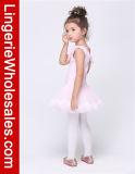 Платье юбки тренировки балетной пачки танцульки балета малышей розовое