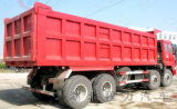 Caminhão de Tipper de 12 rodas, caminhão de descarga resistente 6X4, caminhão de descarga carreg de pedra da areia do caminhão de descarga 8X4