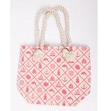 自由な出荷の文字、木パターン女性のハンドバッグのショルダー・バッグのショッピング・バッグが付いている偶然のジーンズファブリックショッピング・バッグ