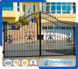 Puerta residencial europea del hierro labrado del jardín (dhgate-6)