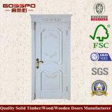 白い直面された贅沢な切り分けるチークの固体木のドア(GSP2-080)