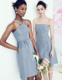 Sweetheart Short Chiffon Sleeveless Patterns for Bridesmaids Dresses (MI 3505)