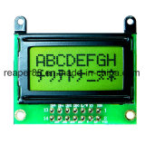 Écran LCD de caractère d'ÉPI du vert jaune 8X2 de Stn