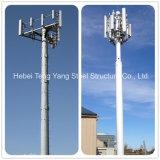 Torre de comunicação de aço Telecom da antena de Pólo feita em China