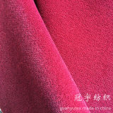 Breve Pile Cation Velour Fabric con Backing per Home Textile