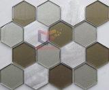 mosaïque en aluminium de mélange en verre d'hexagone de 100*100mm (CFA89)