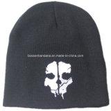 Beanie de laines personnalisé par Knit acrylique de Snowboard des sports des hommes de couleur imprimés par crâne de produit d'OEM