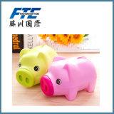 Batería guarra del cerdo de la moneda animal plástica encantadora de los PP para cerco