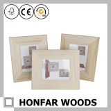 Unfertiger DIY hölzerner Abbildung-Foto-Rahmen für Geschenk
