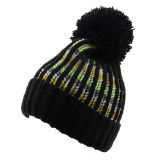 レディースメンズ男女兼用のネオン蛍光球の帽子POMのPOMによって編まれる冬の暖かい帽子の厚い帽子(HW115)