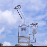 Rauchende Wasser-Rohre des kleinen Glas-Hv-025, Großverkauf-beste Qualitätssystem-Fabrik-Glasrohr-Qualitäts-Recycler-Tabak-hohe Farben-Glasfertigkeit Asht