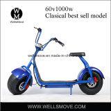 60V 1000W 전기 뚱뚱한 /Big 바퀴 타이어 Seev Woqu Harley Citycoco 스쿠터