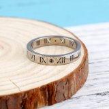 Anéis de dedo por atacado do ouro branco da jóia do aço inoxidável da fábrica